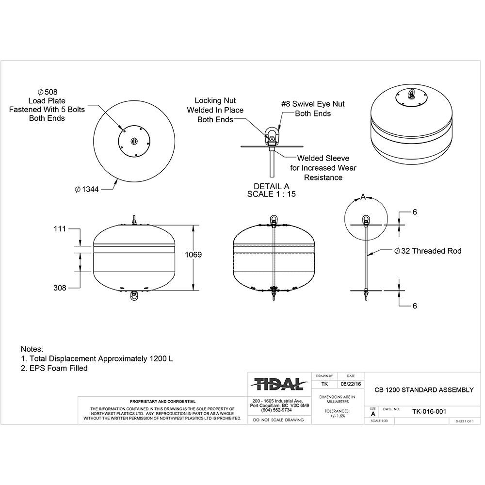 drawing-tidal-marine-aquaculture-buoys-cb-1200-standard