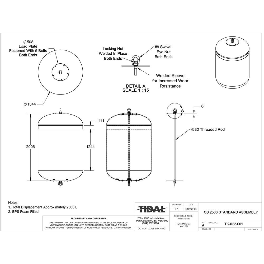drawing-tidal-marine-aquaculture-buoys-cb-2500-standard