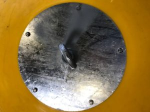 The load plates on our Standard compensation buoys are bolted into molded in inserts in 5 places.